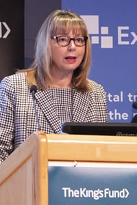 Susan Say, Managing Director of ExtraMed, speaking at The Kings Fund